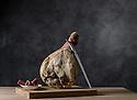 10/02/15 - CHEZ TABLE - PUY DE DOME - FRANCE - Mise en scene de charcuterie AOP Salaisons d Auvergne. Jambon de montagne - Photo Jerome CHABANNE