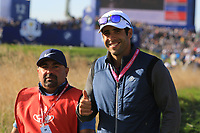 Adrian Otaegui (ESP) on the 13th during Saturday Foursomes at the Ryder Cup, Le Golf National, Ile-de-France, France. 29/09/2018.<br /> Picture Thos Caffrey / Golffile.ie<br /> <br /> All photo usage must carry mandatory copyright credit (&copy; Golffile | Thos Caffrey)