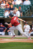 Lehigh Valley IronPigs second baseman Cord Phelps (35) at bat during a game against the Rochester Red Wings on July 4, 2015 at Frontier Field in Rochester, New York.  Lehigh Valley defeated Rochester 4-3.  (Mike Janes/Four Seam Images)