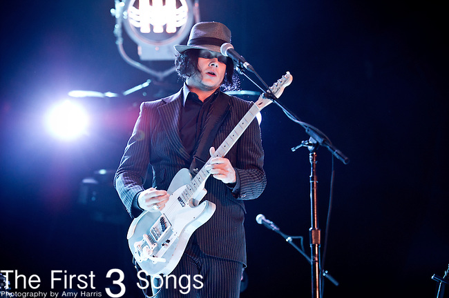Jack White performs during the 2012 Voodoo Experience at City Park in New Orleans, Louisiana.
