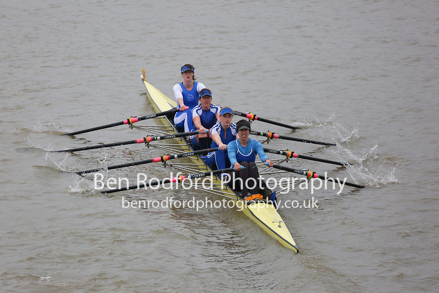 Crew: 148   Barnes Bridge Ladies (Cole)   WB 4x<br /> <br /> Veteran Fours Head 2017<br /> <br /> To purchase this photo, or to see pricing information for Prints and Downloads, click the blue 'Add to Cart' button at the top-right of the page.
