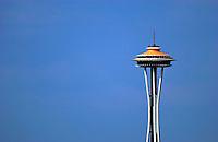 Hydros-PROP Seafair, Lake Washington, Seattle, Washington, USA 4 August,2002 .Copyright©F.Peirce Williams 2002.The Space Needle...F.Peirce Williams .photography.P.O.Box 455  Eaton,OH 45320 USA.p: 317.358.7326  e: fpwp@mac.com