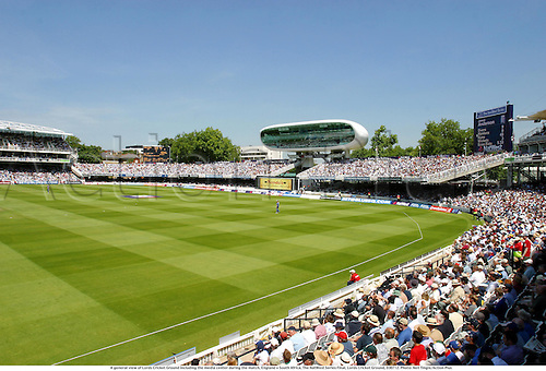 A general view of Lords Cricket Ground including the media center during the match, England v South Africa, The NatWest Series Final, Lords Cricket Ground, 030712. Photo: Neil Tingle/Action Plus...2003.grounds venue venues.one day international internationals ODI