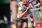 Julien Bernard (FRA) Trek-Segafredo crosses the finish line at the end of Stage 9 of the 2018 Tour de France running 156.5km from Arras Citadelle to Roubaix, France. 15th July 2018. <br /> Picture: ASO/Pauline Ballet | Cyclefile<br /> All photos usage must carry mandatory copyright credit (&copy; Cyclefile | ASO/Pauline Ballet)