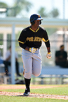 Pittsburgh Pirates Nicholas Buckner (13) during a minor league spring training intrasquad game on March 30, 2014 at Pirate City in Bradenton, Florida.  (Mike Janes/Four Seam Images)