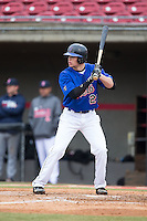 Hunter Lipscomb (25) of Boiling Springs High School in Boiling Springs, South Carolina playing for the New York Mets scout team at the South Atlantic Border Battle at Doak Field on November 1, 2014.  (Brian Westerholt/Four Seam Images)