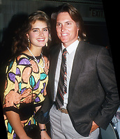 Brooke Shields, Bruce Jenner, 1989 Photo By John Barrett/PHOTOlink