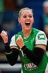 03.12.2017, Halle Berg Fidel, Muenster<br />Volleyball, Bundesliga Frauen, Normalrunde, USC MŸnster / Muenster vs. Rote Raben Vilsbiburg<br /><br />Jubel Lena Vedder (#14 Muenster)<br /><br />  Foto &copy; nordphoto / Kurth