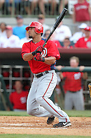 Washington Nationals shortstop Ian Desmond #20 at bat during a spring training game against the Houston Astros at Osceola County Stadium on March 3, 2012 in Kissimmee, Florida.  Houston defeated Washington 3-1.  (Mike Janes/Four Seam Images)