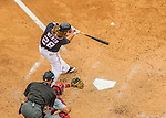 29 May 2016: Washington Nationals outfielder Jayson Werth connects for a grand slam in the 7th inning against the St. Louis Cardinals at Nationals Park in Washington, DC. The Nationals defeated the Cardinals 10-2 to split their 4-game series. Mandatory Credit: Ed Wolfstein Photo *** RAW (NEF) Image File Available ***