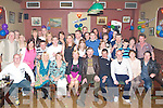 Joe Ryan Castleisland front row fifth from left who celebrated his 60th birthday with his family and friends in the Kingdom House bar Castleisland on Saturday night