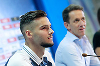 Getafe CF's new player Filip Manojlovic (l) with the Sports Director Ramon Planes during his official presentation.  August 8, 2017. (ALTERPHOTOS/Acero) /NortePhoto.com