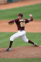 Jake Barrett, Arizona State Sun Devils - Annual Alumni game at Packard Stadium, Tempe, AZ - 02/06/2010..Photo by:  Bill Mitchell/Four Seam Images.