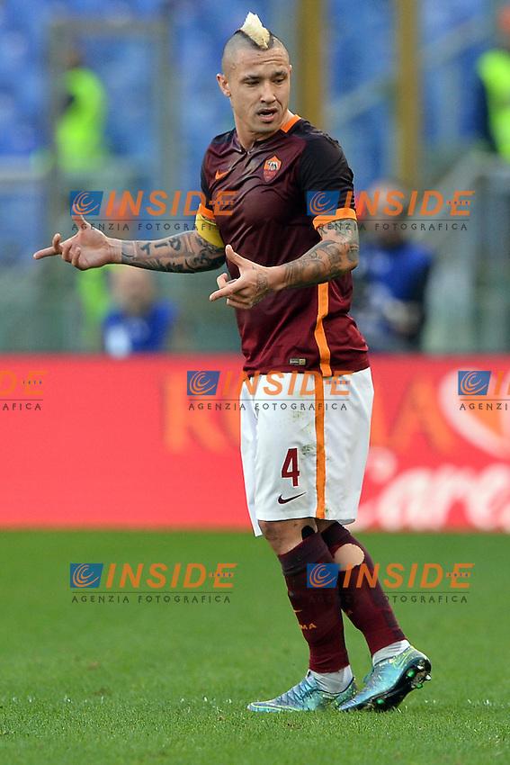 Radja Nainggolan Roma.<br /> Roma 08-11-2015 Stadio Olimpico, Football Calcio 2015/2016 Serie A.AS Roma - Lazio.  Foto Antonietta Baldassarre / Insidefoto