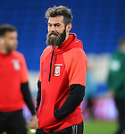 Joe Ledley of Wales before the start of the FIFA World Cup Qualifying match at the Cardiff City Stadium, Cardiff. Picture date: November 12th, 2016. Pic Robin Parker/Sportimage