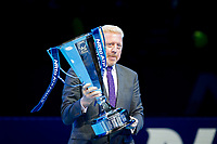 For Wimbledon Champion Boris BECKER walks on the ATP Winners Trophy ahead of his 50th birthday on 22nd nov during the NiTTO ATP World Tour 2017 FINAL's Day at the O2, London, England on 19 November 2017. Photo by Andy Rowland.