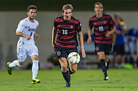 STANFORD, CA - August 19, 2014: Eric Verso during the Stanford vs CSU Bakersfield men's exhibition soccer match in Stanford, California.  Stanford won 1-0.