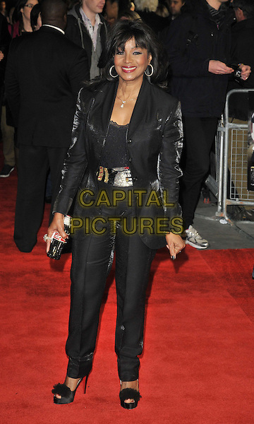 "Rebbie Jackson .The ""Michael Jackson : The Life Of An Icon"" UK premiere, Empire cinema, Leicester Square, London, England..2nd November 2011.full length black trousers blazer jacket silver belt .CAP/CAN.©Can Nguyen/Capital Pictures."