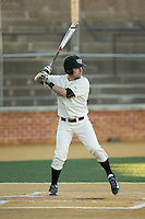 Logan Harvey (15) of the Wake Forest Demon Deacons at bat against the Richmond Spiders at David F. Couch Ballpark on March 6, 2016 in Winston-Salem, North Carolina.  The Demon Deacons defeated the Spiders 17-4.  (Brian Westerholt/Four Seam Images)