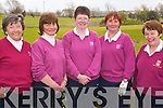 GOLFING LADIES: Members of the Waterville Ladies Golf Club who played in the second round of the AA Ladies Championship against the Killarney Ladies Golf and Fishing Club at Ardfert Golf Club on Sunday l-r: Anne Flaherty, Liz O'Neill, Mary Donnelly, Mary Fleming and Frances Evert.   Copyright Kerry's Eye 2008