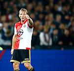 Nederland, Rotterdam, 24 september 2015<br /> KNVB Beker<br /> Seizoen 2015-2016<br /> Feyenoord-PEC Zwolle (3-0)<br /> Dirk Kuyt, aanvoerder van Feyenoord steekt zijn duim op
