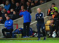 Preston North End manager Alex Neil shouts instructions to his team from the dug-out <br /> <br /> Photographer Kevin Barnes/CameraSport<br /> <br /> The Carabao Cup - Accrington Stanley v Preston North End - Tuesday 8th August 2017 - Crown Ground - Accrington<br />  <br /> World Copyright &copy; 2017 CameraSport. All rights reserved. 43 Linden Ave. Countesthorpe. Leicester. England. LE8 5PG - Tel: +44 (0) 116 277 4147 - admin@camerasport.com - www.camerasport.com