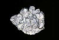 GALENA (PbS) CHIEF ORE OF LEAD<br /> Cubic-Hexoctahedral<br /> Lead sulfide<br />  Luster: metallic; hardness: 2.5-2.75; s.gravity 7.4-7.6.