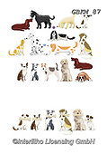 Kate, CUTE ANIMALS, LUSTIGE TIERE, ANIMALITOS DIVERTIDOS, paintings+++++Cats & dogs page 40,GBKM87,#ac#, EVERYDAY ,dogs,dog