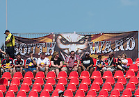 20 July 2013: A small crowd of fans get ready to support the New York Red Bulls during an MLS regular season game between the New York Red Bulls and Toronto FC at BMO Field in Toronto, Ontario Canada.<br /> The game ended in a 0-0 draw.