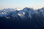 Peaks of the Olympics at Hurricane Ridge, Olympic National Park, Washington, WA, USA