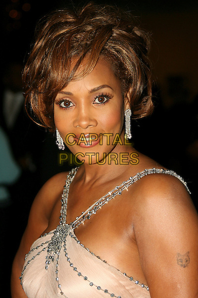 VIVICA A. FOX.16th Annual NAACP Theatre Awards - Arrivals held at the Director's Guild of America, Los Angeles, California, USA..February 20th, 2006.Photo: Zach Lipp/AdMedia/Capital Pictures.Ref: ZL/ADM.headshot portrait tattoo dangling earrings.www.capitalpictures.com.sales@capitalpictures.com.© Capital Pictures.