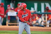 Julio Garcia (37) of the Orem Owlz bats against the Ogden Raptors at Lindquist Field on September 2, 2017 in Ogden, Utah. Ogden defeated Orem 16-4. (Stephen Smith/Four Seam Images)