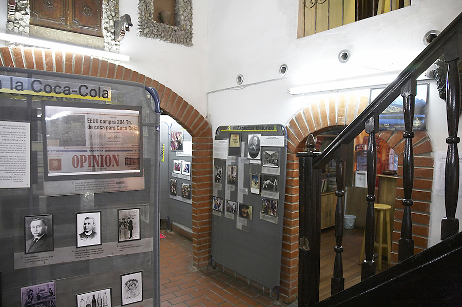 The coca museum in La Paz, Bolivia.