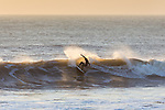 Surfing at Compton Bay on the Isle of Wight during a late Autumnal swell 2014.