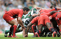 Twickenham, GREAT BRITAIN, Toulouses', Bryon KELLENER, feeds the ball into the scrum, during the Heineken, Semi Final, Cup Rugby Match,  London Irish vs Toulouse, at the Twickenham Stadium on Sat 26.04.2008 [Photo, Peter Spurrier/Intersport-images]