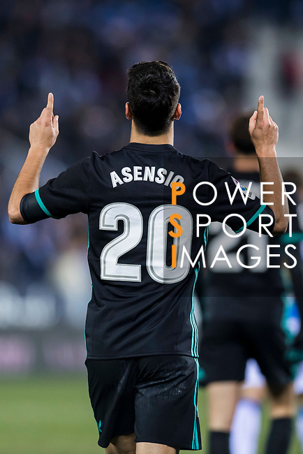Marco Asensio Willemsen of Real Madrid celebrates his goal during the Copa del Rey 2017-18 match between CD Leganes and Real Madrid at Estadio Municipal Butarque on 18 January 2018 in Leganes, Spain. Photo by Diego Gonzalez / Power Sport Images