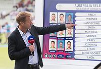 Ian Ward looks at the Australian selection before Australia vs England, ICC World Cup Semi-Final Cricket at Edgbaston Stadium on 11th July 2019