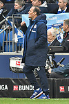 16.03.2019, VELTINS-Arena, Gelsenkirchen, GER, DFL, 1. BL, FC Schalke 04 vs RB Leipzig, DFL regulations prohibit any use of photographs as image sequences and/or quasi-video<br /> <br /> im Bild 16.03.2019, VELTINS-Arena, Gelsenkirchen, GER, DFL, 1. BL, FC Schalke 04 vs RB Leipzig, DFL regulations prohibit any use of photographs as image sequences and/or quasi-video<br /> <br /> im Bild Huub Stevens (FC Schalke 04) unzufrieden / enttaeuscht / niedergeschlagen / frustriert, <br /> <br /> Foto © nph/Mauelshagen<br /> <br /> Foto © nph/Mauelshagen
