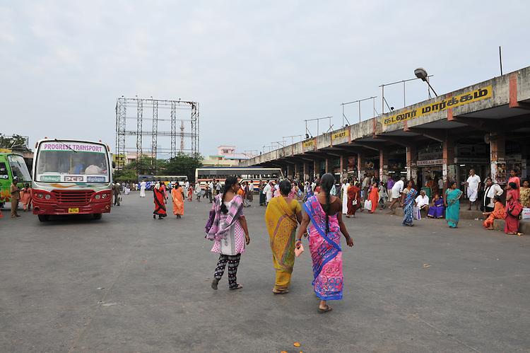 Pondicherry bus station. 2014