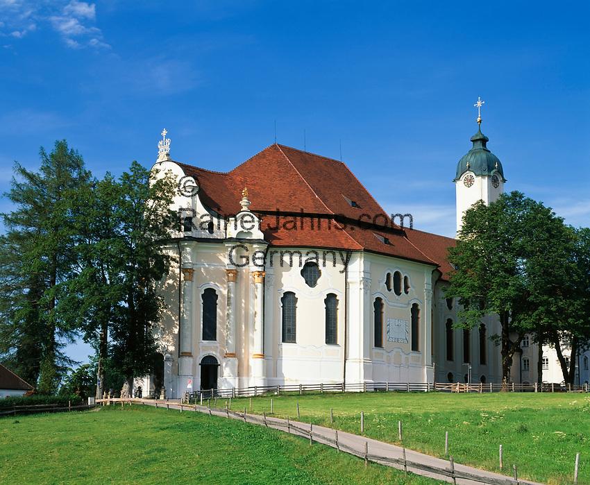Deutschland, Bayern, Oberbayern, Pfaffenwinkel, Steingaden: Wallfahrtskirche Die Wies | Germany, Upper Bavaria, Steingaden: pilgrimage church The Wies