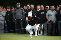 Shane Lowry (IRL) in putting action during the Final Round of the British Masters 2015 supported by SkySports played on the Marquess Course at Woburn Golf Club, Little Brickhill, Milton Keynes, England.  11/10/2015. Picture: Golffile | David Lloyd<br /> <br /> All photos usage must carry mandatory copyright credit (© Golffile | David Lloyd)