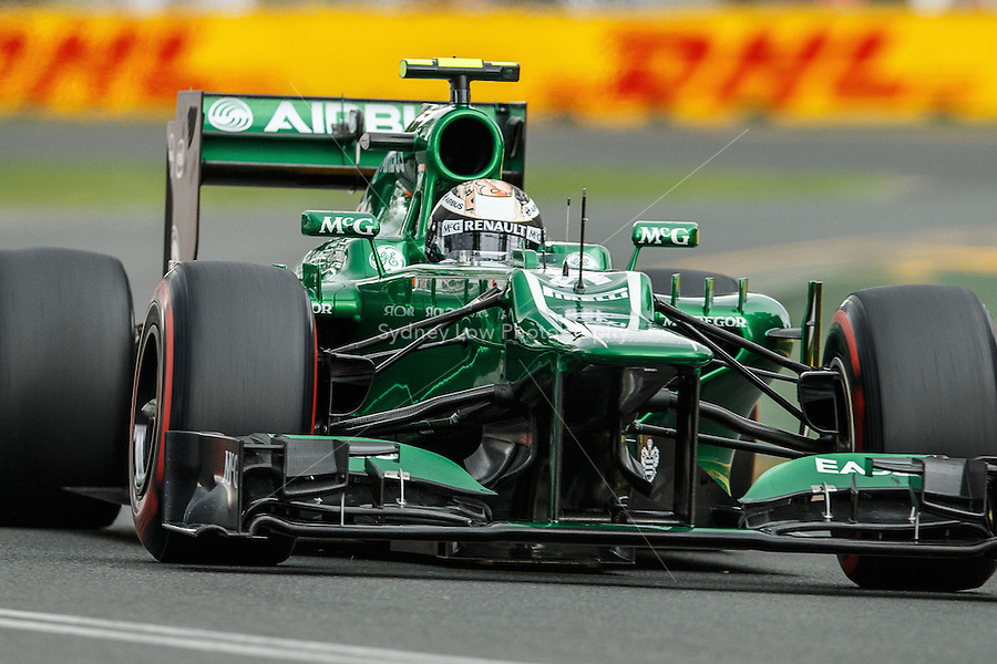 MELBOURNE, 16 MARCH - Giedo van der Garde (NLD) from the Caterham F1 Team rounds turn six in free practice session three on day three of the 2013 Formula One Rolex Australian Grand Prix at the Albert Park Circuit in Melbourne, Australia. Photo Sydney Low / syd-low.com