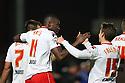 Lucas Akins of Stevenage celebrates scoring their second goal<br />  - Stevenage v Leyton Orient - Johnstone's Paint Trophy - Southern Section Quarter-final  - Lamex Stadium, Stevenage - 12th November, 2013<br />  © Kevin Coleman 2013