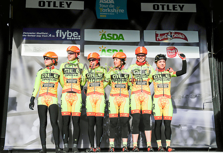 Picture by Simon Wilkinson/SWpix.com - 30/04/2016 - Cycling - 2016 Asda Women's Tour de Yorkshire: Otley to Doncaster - Yorkshire, England - Team Ale Cipollini are introduced.