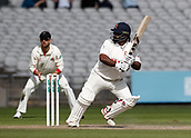 8th September 2017, Emirates Old Trafford, Manchester, England; Specsavers County Championship, Division One; Lancashire versus Essex; Ashar Zaidiof Essex at the crease during the afternoon session