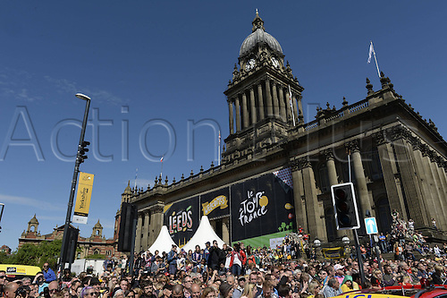 05.07.2014. Leeds, England. Le Grand Depart. Tour De France. Stage 1 Leeds to Harrogate. The Tour display in city hall