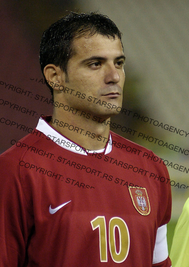 SPORT FUDBAL SRBIJA BELGIJA REPREZENTACIJA EURO 2008 KVALIFIKACIJE SOCCER NATIONAL TEAM  Dejan Stankovic 7.10.2006. photo: Pedja Milosavljevic<br />
