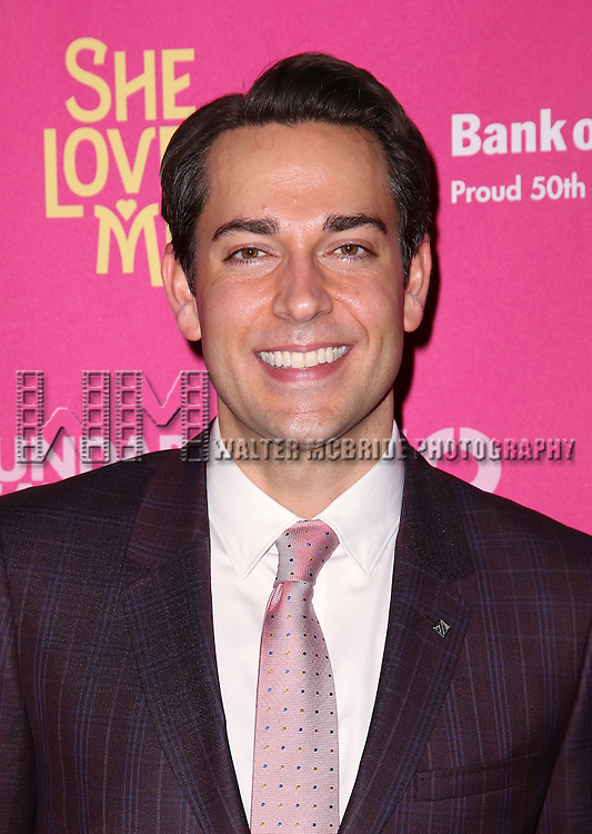 Zachary Levi attends the Broadway Opening Night Performance press reception for 'She Loves Me' at Studio 54 on March 17, 2016 in New York City.