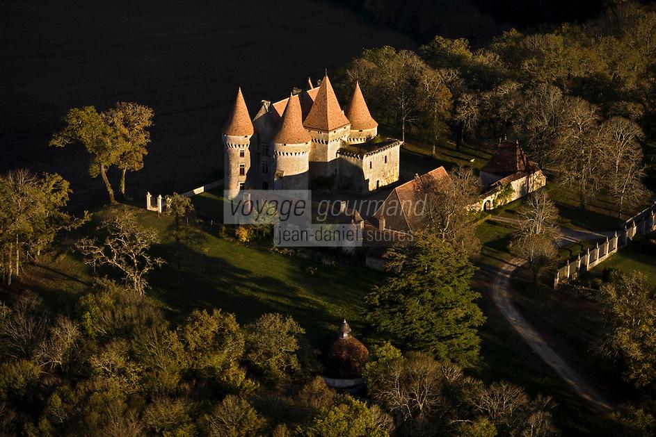 Europe/France/Aquitaine/24/Dordogne/Vallée de la Vézère/Périgord Noir/Tursac: Château de Marzac - Vue aérienne