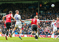 Leeds United's Pontus Jansson scores his side's equalising goal<br /> <br /> Photographer Alex Dodd/CameraSport<br /> <br /> The EFL Sky Bet Championship - Leeds United v Brentford - Saturday 6th October 2018 - Elland Road - Leeds<br /> <br /> World Copyright &copy; 2018 CameraSport. All rights reserved. 43 Linden Ave. Countesthorpe. Leicester. England. LE8 5PG - Tel: +44 (0) 116 277 4147 - admin@camerasport.com - www.camerasport.com